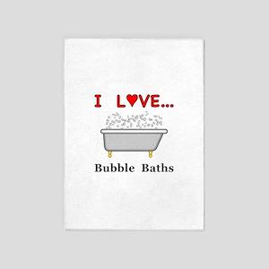 Love Bubble Baths 5'x7'Area Rug