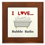 Love Bubble Baths Framed Tile
