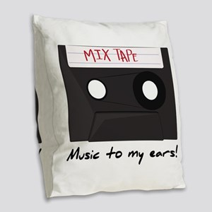 Music To My Ears Burlap Throw Pillow