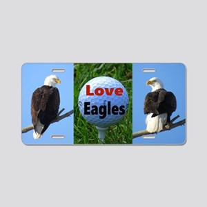 Golf Eagles Aluminum License Plate