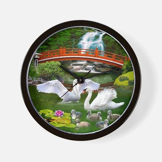 The Swan Family Wall Clock