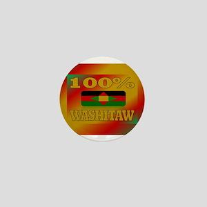 100% Washitaw Mini Button