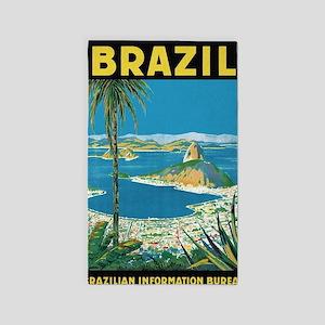 Brazil, Sugarloaf Mountain; Vintage Trave Area Rug