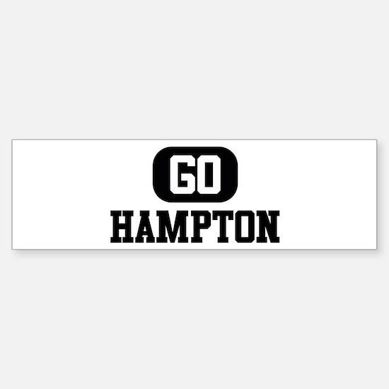 GO HAMPTON Bumper Bumper Bumper Sticker