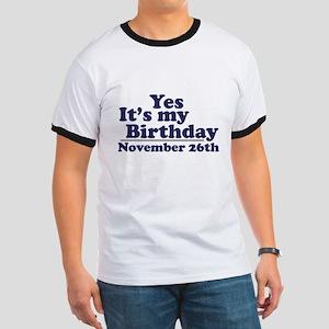 November 26th Birthday Ringer T
