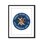 USS Monrovia (APA 31) Framed Panel Print