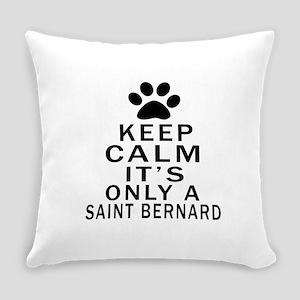 Saint Bernard Keep Calm Designs Everyday Pillow
