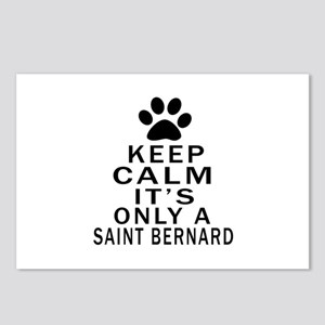 Saint Bernard Keep Calm D Postcards (Package of 8)