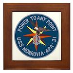 USS Monrovia (APA 31) Framed Tile