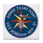 USS Monrovia (APA 31) Tile Coaster