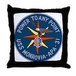 USS Monrovia (APA 31) Throw Pillow