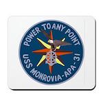 USS Monrovia (APA 31) Mousepad