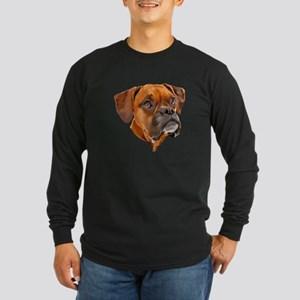 Boxer Art Portrait Long Sleeve T-Shirt
