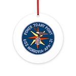 USS Monrovia (APA 31) Ornament (Round)