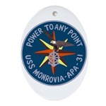 USS Monrovia (APA 31) Oval Ornament
