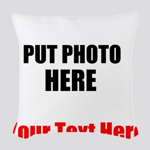 Funny Picture Woven Throw Pillow