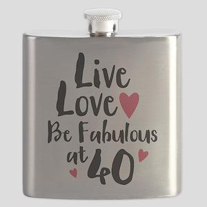 Live Love Fab 40 Flask