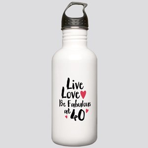 Live Love Fab 40 Stainless Water Bottle 1.0L