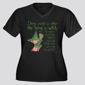 Crafty Crochet Witch Plus Size T-Shirt