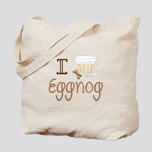 I Love Eggnog Tote Bag