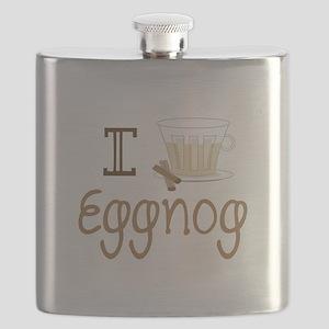 I Love Eggnog Flask