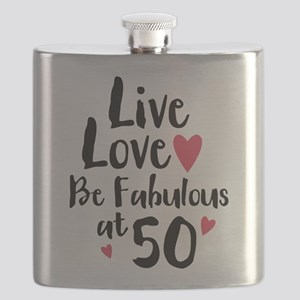 Live Love Fab 50 Flask
