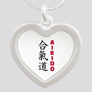 Aikido Silver Heart Necklace