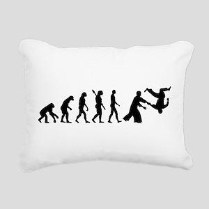 Evolution Aikido Rectangular Canvas Pillow