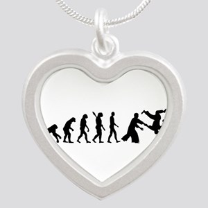 Evolution Aikido Silver Heart Necklace