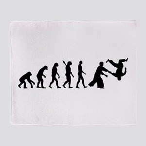 Evolution Aikido Throw Blanket