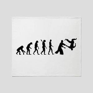 Evolution Aikido Throw Blanket