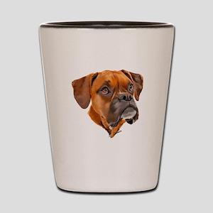 Boxer Art Portrait Shot Glass