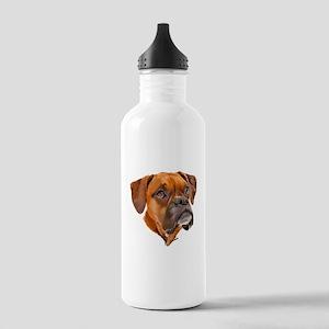 Boxer Art Portrait Water Bottle