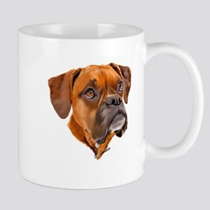Boxer Art Portrait Mugs