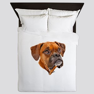 Boxer Art Portrait Queen Duvet