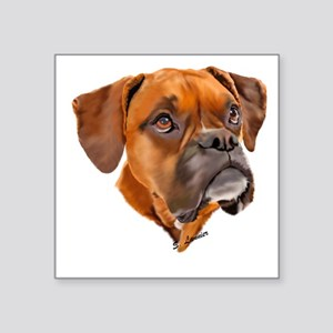 Boxer Art Portrait Sticker