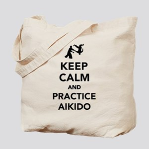 Keep calm and practice Aikido Tote Bag