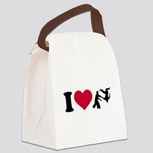 I love Aikido Canvas Lunch Bag