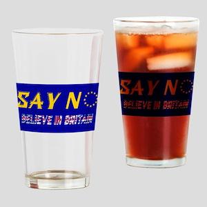 Believe in Britain! Drinking Glass