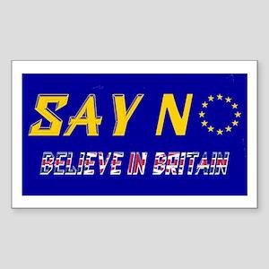 Believe In Britain! Sticker (rectangle)