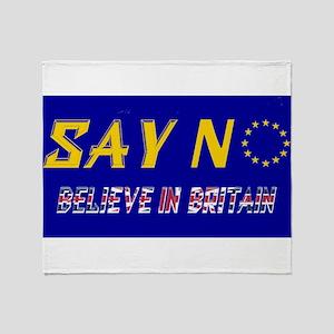 Believe in Britain! Throw Blanket