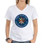 USS Monrovia (APA 31) Women's V-Neck T-Shirt