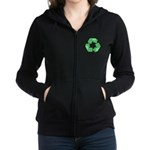 Recycle Shamrock Women's Zip Hoodie