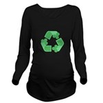 Recycle Shamrock Long Sleeve Maternity T-Shirt