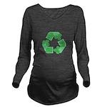 Recycle Shamrock Long Sleeve Maternity T-Shirt