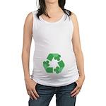 Recycle Shamrock Maternity Tank Top