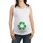Recycle Shamrock Maternity Tank Top