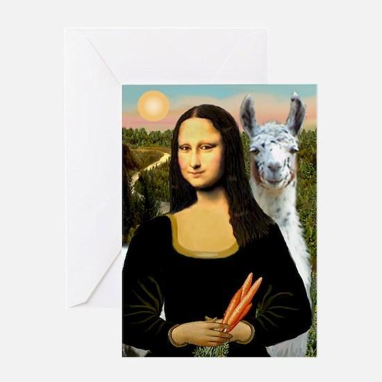 Mona Lisa's Llama Greeting Card