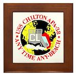USS Chilton (APA 38) Framed Tile