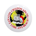 USS Chilton (APA 38) Ornament (Round)
